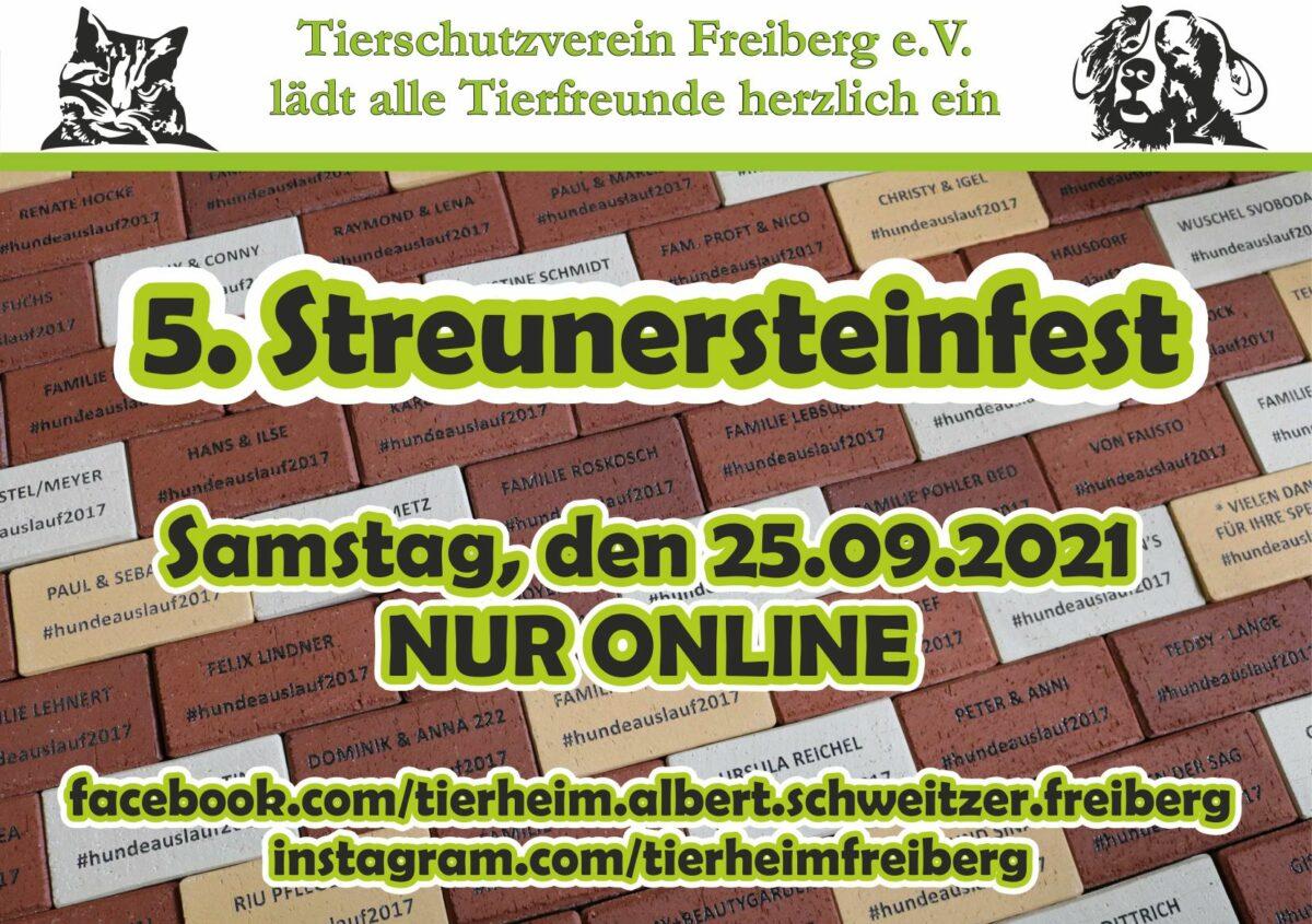 5. Streunersteinfest nur online